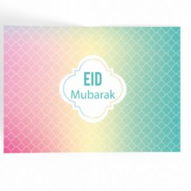 Eid Mubarak Placemat Pastel (papier 6 stuks)