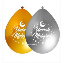 Umrah Mubarak ballonnen (10 stuks)
