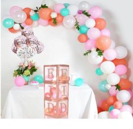 Eid ballonnen box Rose