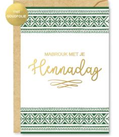 Wenskaart Mabrouk met je Hennadag