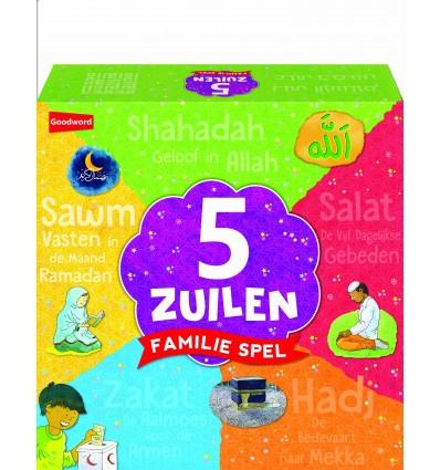 5 zuilen spel mixcolor