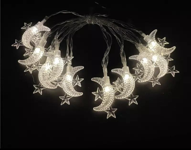 LED lichtjes maan en ster (10 lampjes)