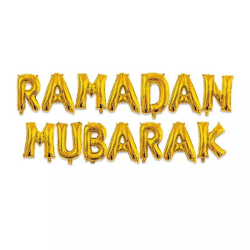 Ramadan Mubarak folie ballon goud