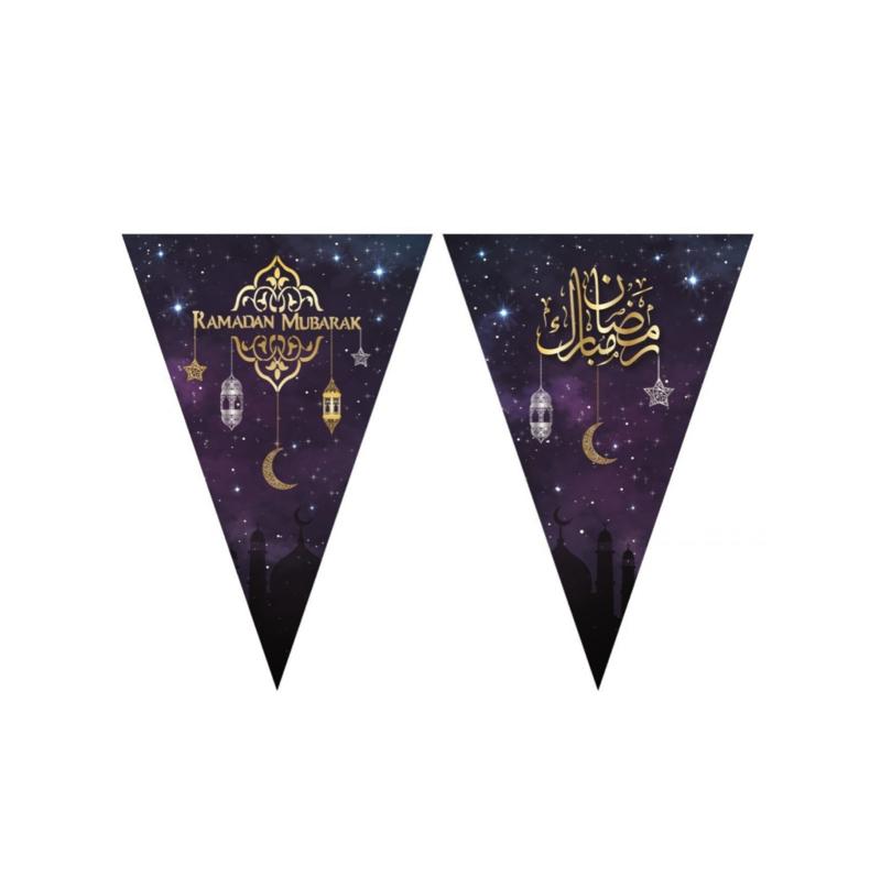 Ramadan Mubarak slinger paars