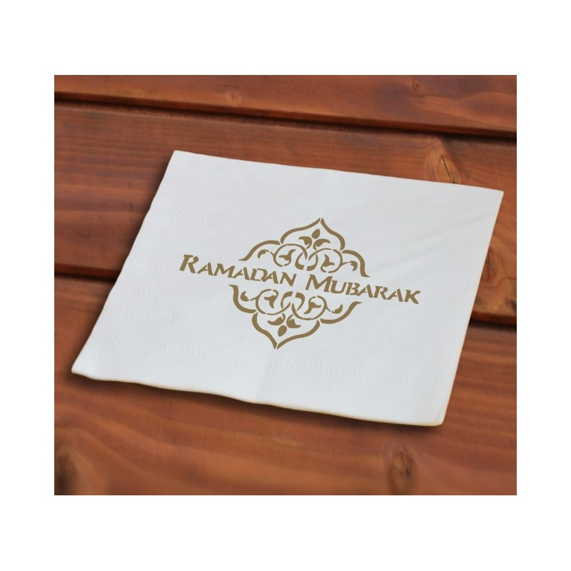 Papieren servetten ramadan mubarak (40 stuks)