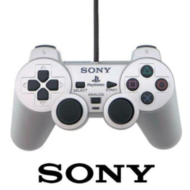 PS2 Dual Shock 2 Controller - Zwart of Zilver