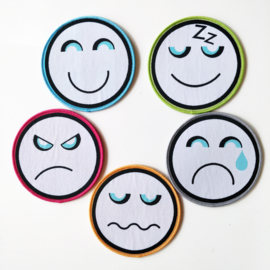 Set van 5 emoticon patches