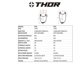 THOR Carbon wielsets, Disc, ROAD/CYCLO/GRAVEL