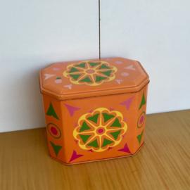 Oranje bloem blik