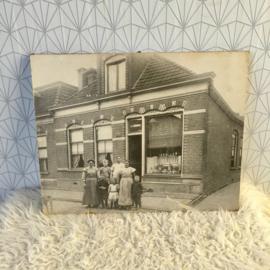 Oude zwart wit prent/foto