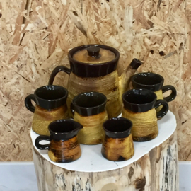 Jaren 70 koffie/thee set