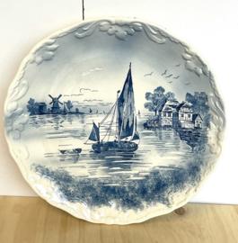 Delftsblauw wandbord