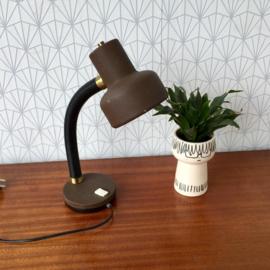 Bruin/goud bureaulamp
