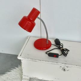 Rood bureaulampje