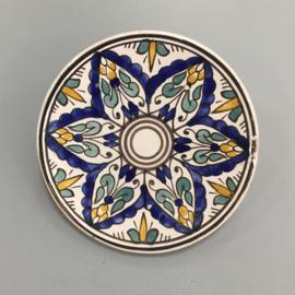 Wandbordje `Marrakech blauw`