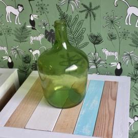 Glazen groene gistfles