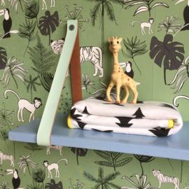 Wandplank & leren dragers