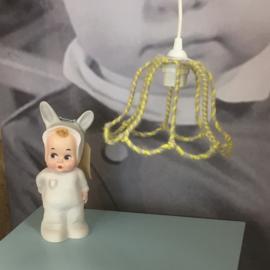 Draadlamp geel/wol