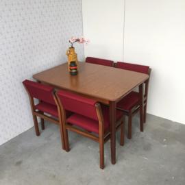 4 Pastoe Midcentury stoelen