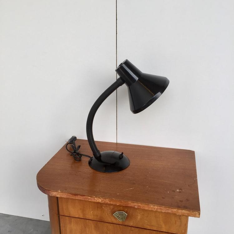 Zwart bureaulampje
