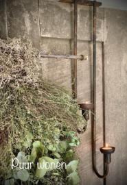 Luik kandelaar roest 50 cm van Puur Wonen