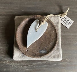 Mijn Stijl zeephanger hart XL, licht grijs