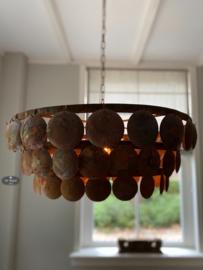 Metalen schijfjeslamp roest 70 cm