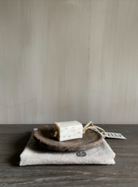 Mijn Stijl zeephanger blok XL, naturel met lavendelbloesem
