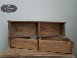 Oude houten steenmal dubbel