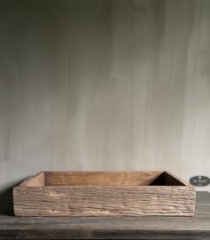 Oud houten bak dienblad