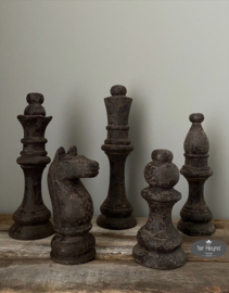 Houten schaakset   (5 delig)