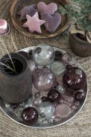 Christmas ornament pebbled glass Ø9,5 cm