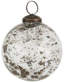Christmas ornament pebbled glass clear Ø8cm