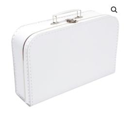 Kinderkoffertje wit 30 cm