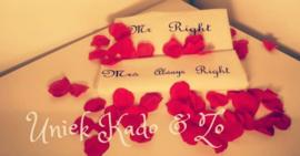2 kussenslopen Mr Right& Mrs always right