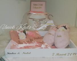 Bruidsgeschenk in het rose of wit