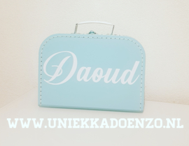 Kinderkoffer blauw