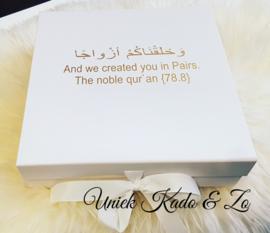 Giftbox luxe large met aya huwelijk