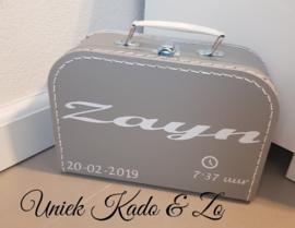 Zilver/grijs koffertje