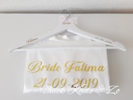 Bridekimono met gouden bedrukking & hanger