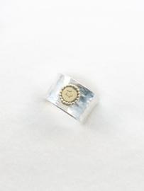 Hamerslag ring met gouden ster