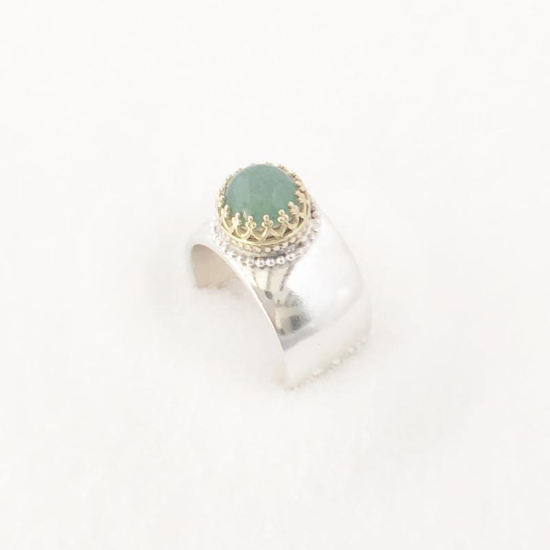 Kasteel ring met Amazoniet