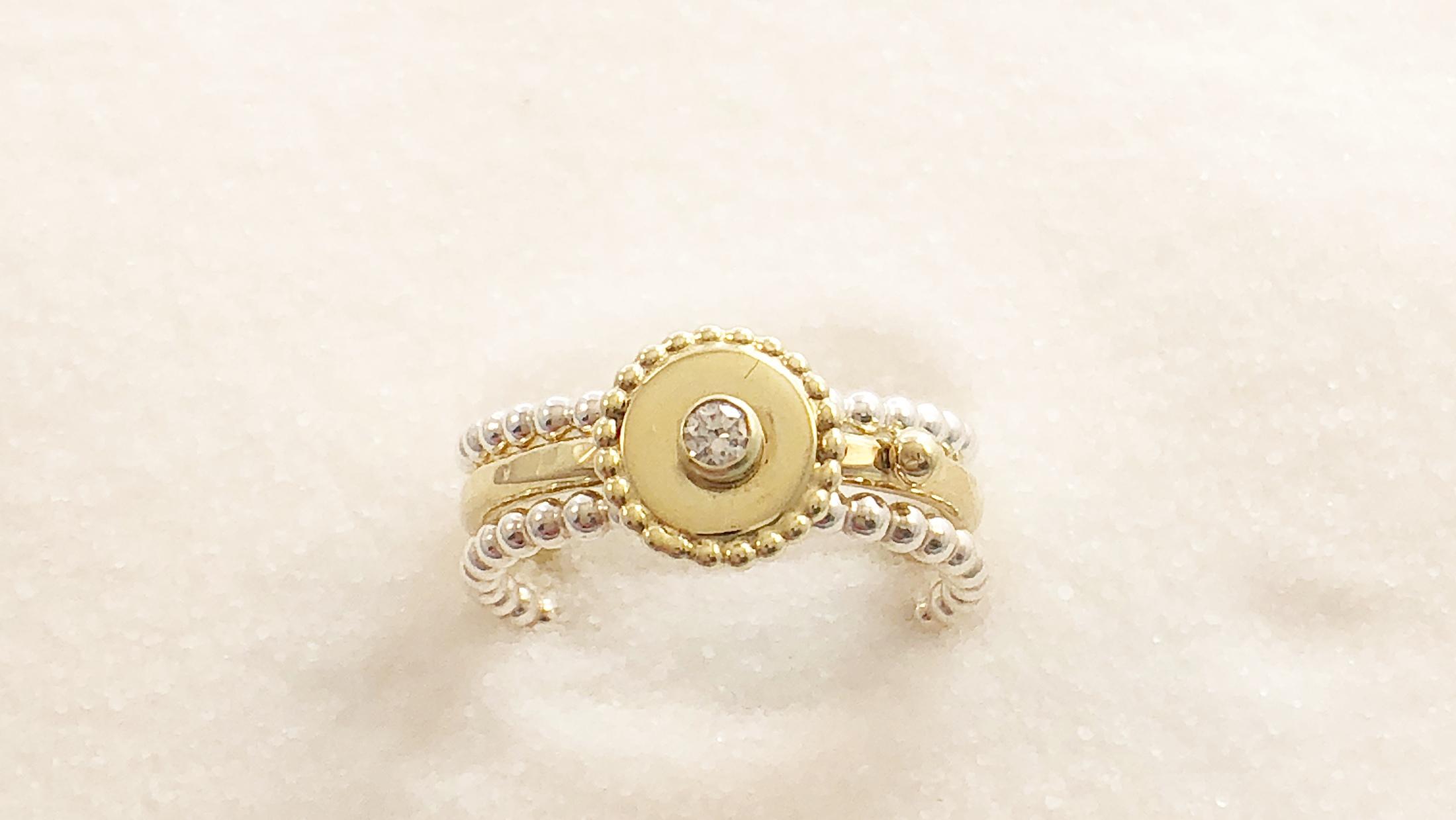 Gouden ring met aansluit ringentjes
