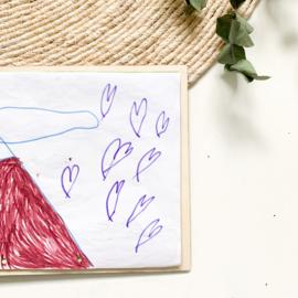 Houten bewaarmap | Eigen tekening