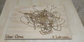 Blog    Tekening op hout