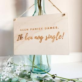 Houten bord bruidskinderen | Single