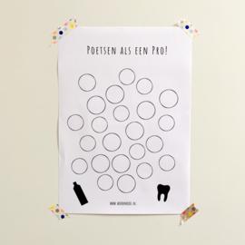 Gratis printable   Tandenpoetsen als een pro!