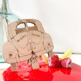 Houten taarttopper - VW Kever