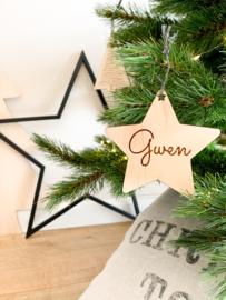 Houten kerstster | met naam