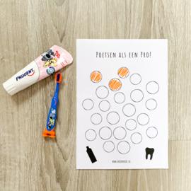 Gratis printable | Tandenpoetsen als een pro!